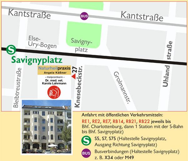 Praxis Karola Lahrmann Lageplan